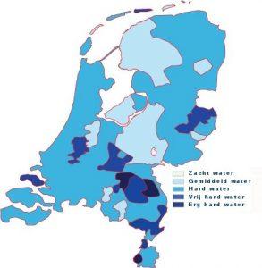 KW-waarde Waterhardheid per gemeente