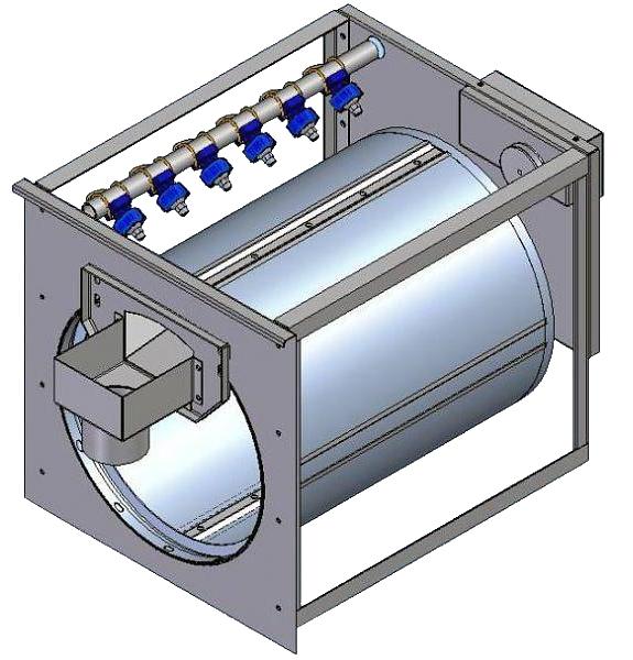3D Tekening van een trommelfilter