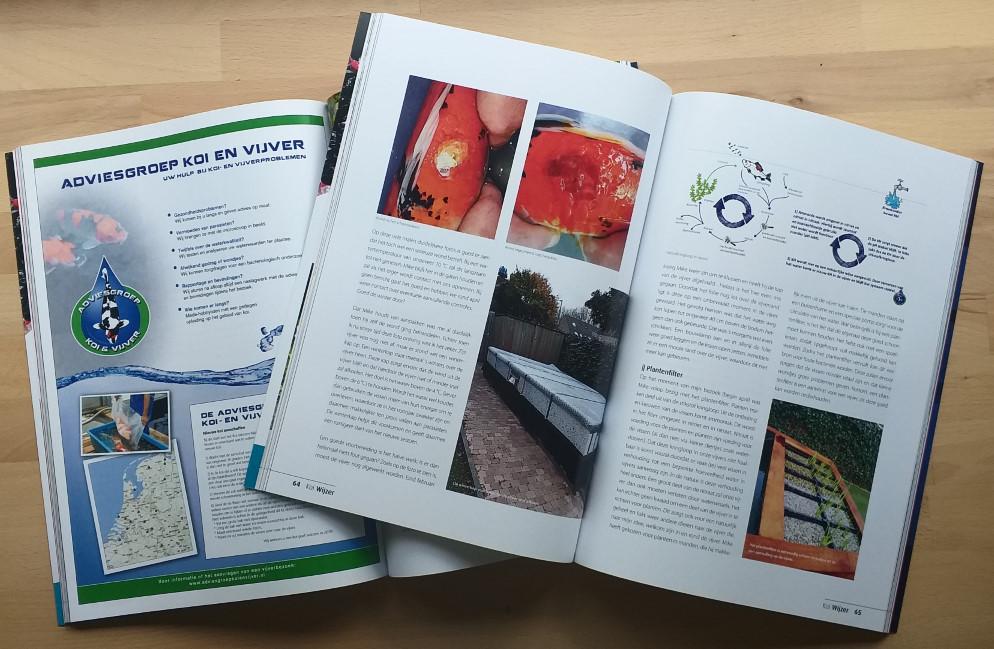 Adviesgroep koi en vijver - Koimagazines met onze artikelen