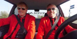 Martijn en Peter onderweg naar Adviesgroep Koi en vijver