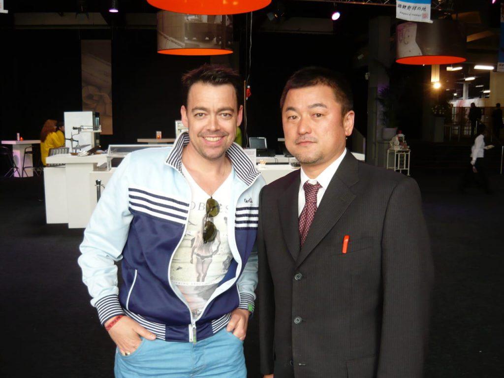 Ronny samen met Japanse kweker Yuji Tanaka